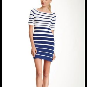 Trina Turk striped navy sweater mini dress